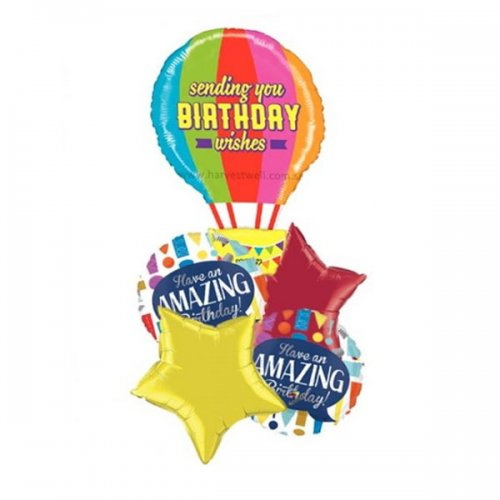 Mighty HBD Balloon Package