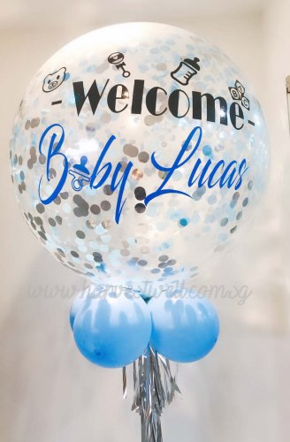Personalized JumbWelcome Baby Helium Latex Balloon