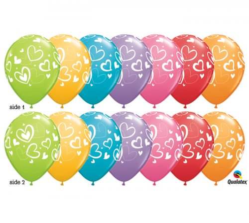 Mix & Match Love Hearts Helium Latex Balloon
