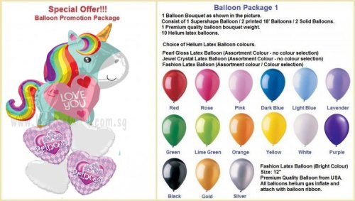 Unicorn Love JR Balloon Package B