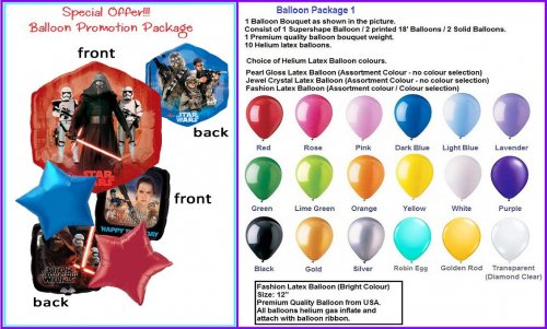 Star Wars Balloon Package