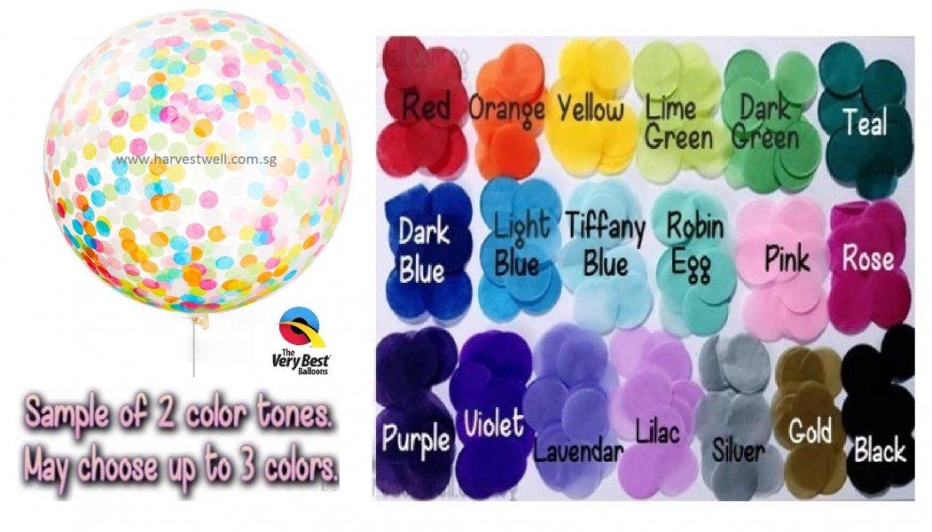 Customize Confetti Jumbo Helium Latex Balloon