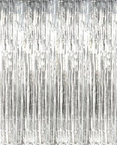Silver Metallic Foil Tinsel