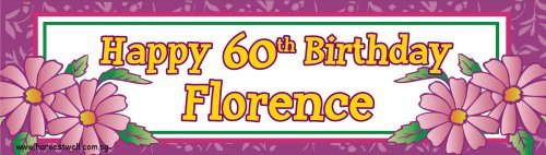 Violet Flora Celebration Customized Banner