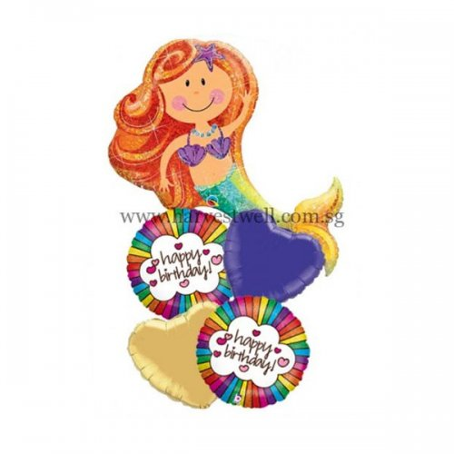 Happy Birthday Merry Mermaid Balloon Promotion Package