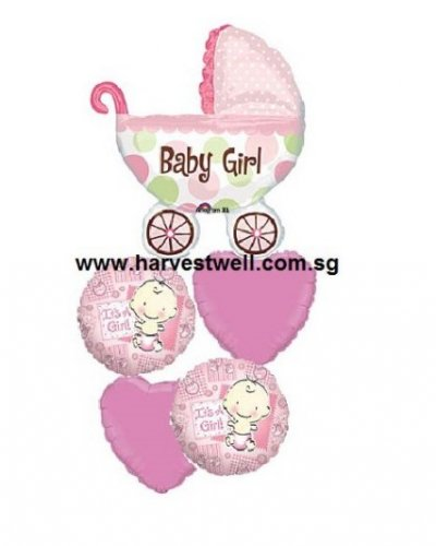Welcome Baby Girl Celebration Balloon Package