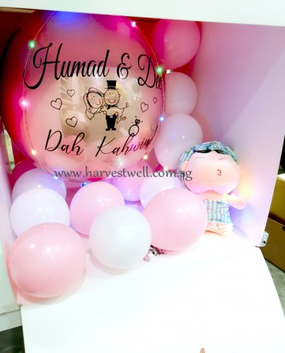Customize Surprise Box Dah Kahwin ORBZ Balloon