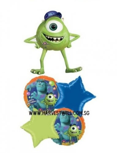 Happy Monster Birthday Balloon Promotion Package