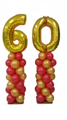 Megaloon Number Balloon Column (1 Pair)