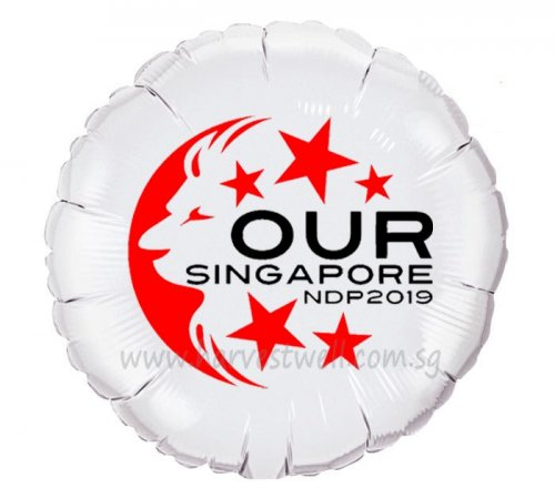 Customize Round Foil Balloon for NDP 2019
