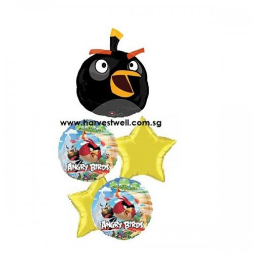 Angry Birds Party! Black Bird Balloon Package