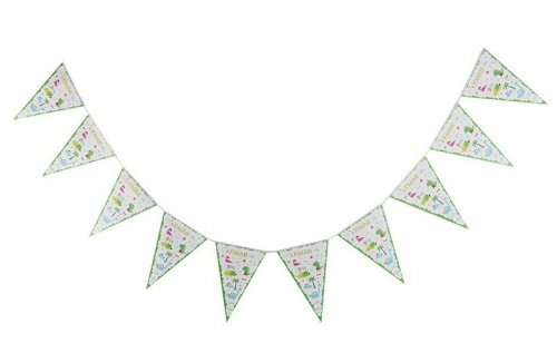 Cute Dino Paper Bunting Flag Banner