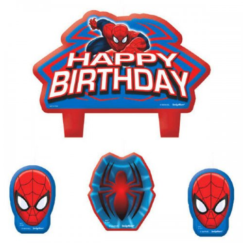 Spiderman Happy Birthday Candle Set