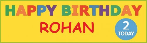 HBD Jelly Bean Bright Colour Customized Banner