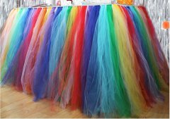 RAINBOW Colour TUTU Table Skirt (1 METRE)