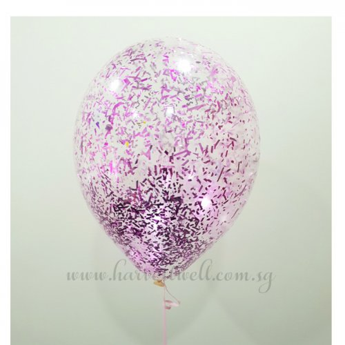 Pink Glitter Helium Latex Balloon
