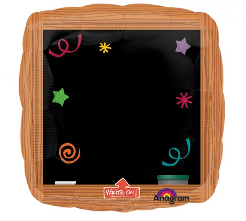 Write-On Wood Frame Black Board Super Shape