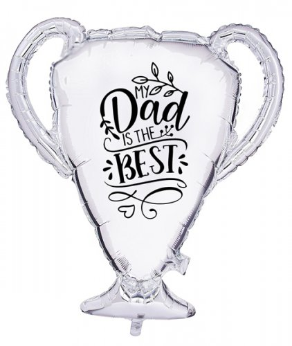 Trophy Best Dad Customized Balloon Size: 23""