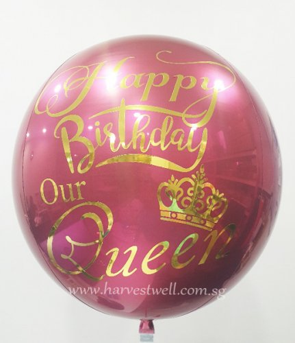 Red Wine Customize ORBZ Balloon