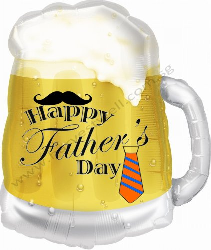 Beer Mug Father's Day Customized Balloon Size: 23""
