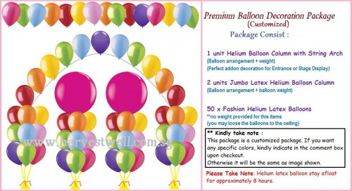 Premium Balloon Decoration Package (Customized)