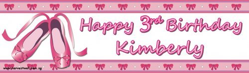Ballet Girl Birthday Customized Banner