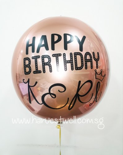 Customize Crown Birthday ORBZ Balloon