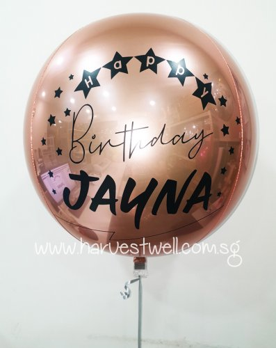 Customize Birthday Celebration ORBZ Balloon