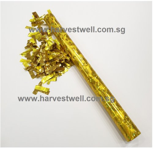 Large Size Party Confetti Popper with Foil Brick