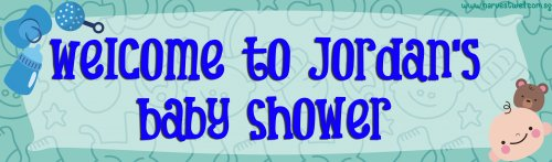 Baby Boy Shower Customized Banner
