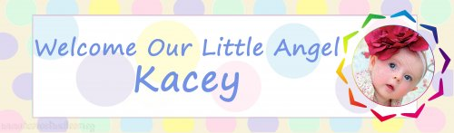 Welcome Baby Polka Dots (Photo) Customized Banner