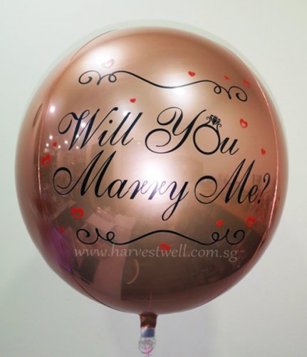 Will You Marry Me Customize ORBZ Balloon