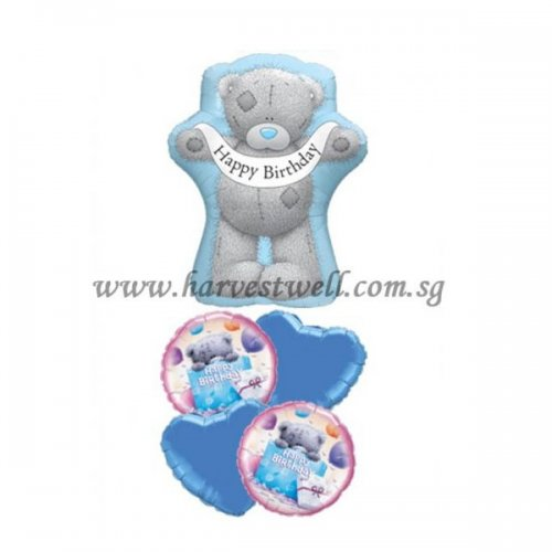 Teddy Bear HBD Banner Balloon Package