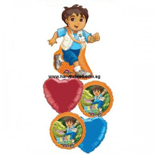 Go Diego Go Birthday Balloon Package