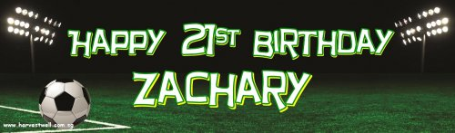 Soccer Ball Birthday Customized Banner