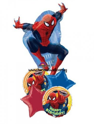 Spiderman Ultimate Party HBD Balloon Package