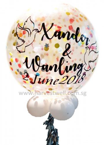 Personalized Jumbo Wedding Helium Latex Balloon
