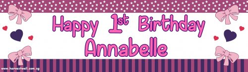 Pink Bow Customized Banner