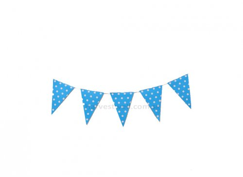 Blue and White Polka Dots Flag Banner