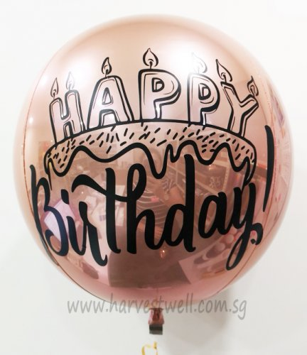 Customize Happy Candles ORBZ Balloon