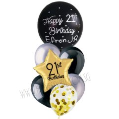 Personalised Orbz (Star) Balloon Bouquet