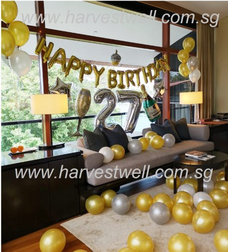Deluxe Bedroom Balloon Decoration Package