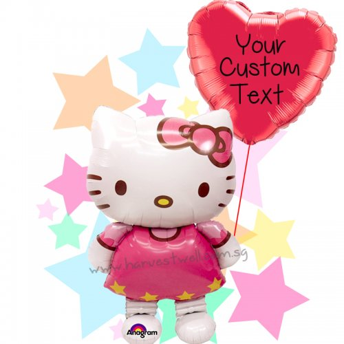 Personalize Hello Kitty's Love Balloon Gift