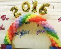 2017 Rainbow (Spiral) Balloon Arch