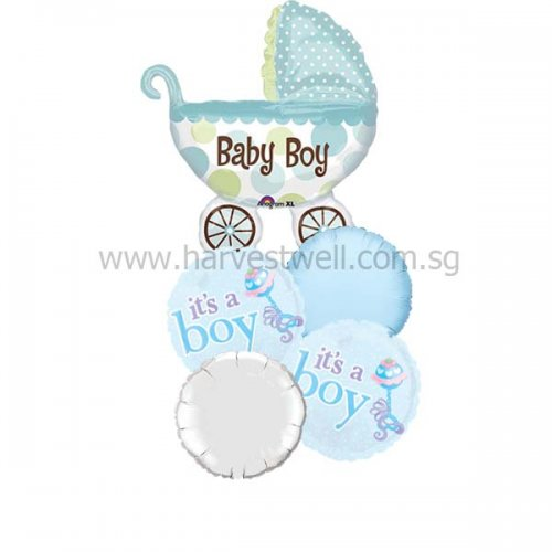 Baby Buggy Boy Balloon Package