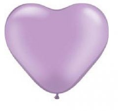 LAVENDER HEART SHAPE Helium Latex Balloon