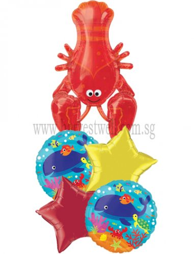 Sea Creature Lobster Balloon Package
