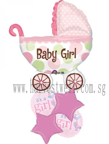 It's A Baby Girl Balloon Package