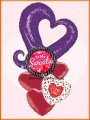 To My Sweeties (Purple Heart) Balloon Bouquet