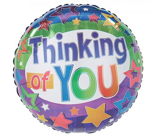 Thinking of YOU Stars & Stripes Mylar Balloon